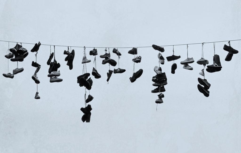 Poster: Flensburg – Stadt der hängenden Schuhe
