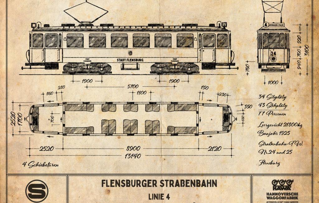 POSTER: Flensburger Straßenbahn